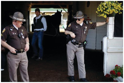Security at the Kentucky Derby