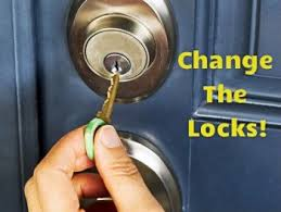 change the locks